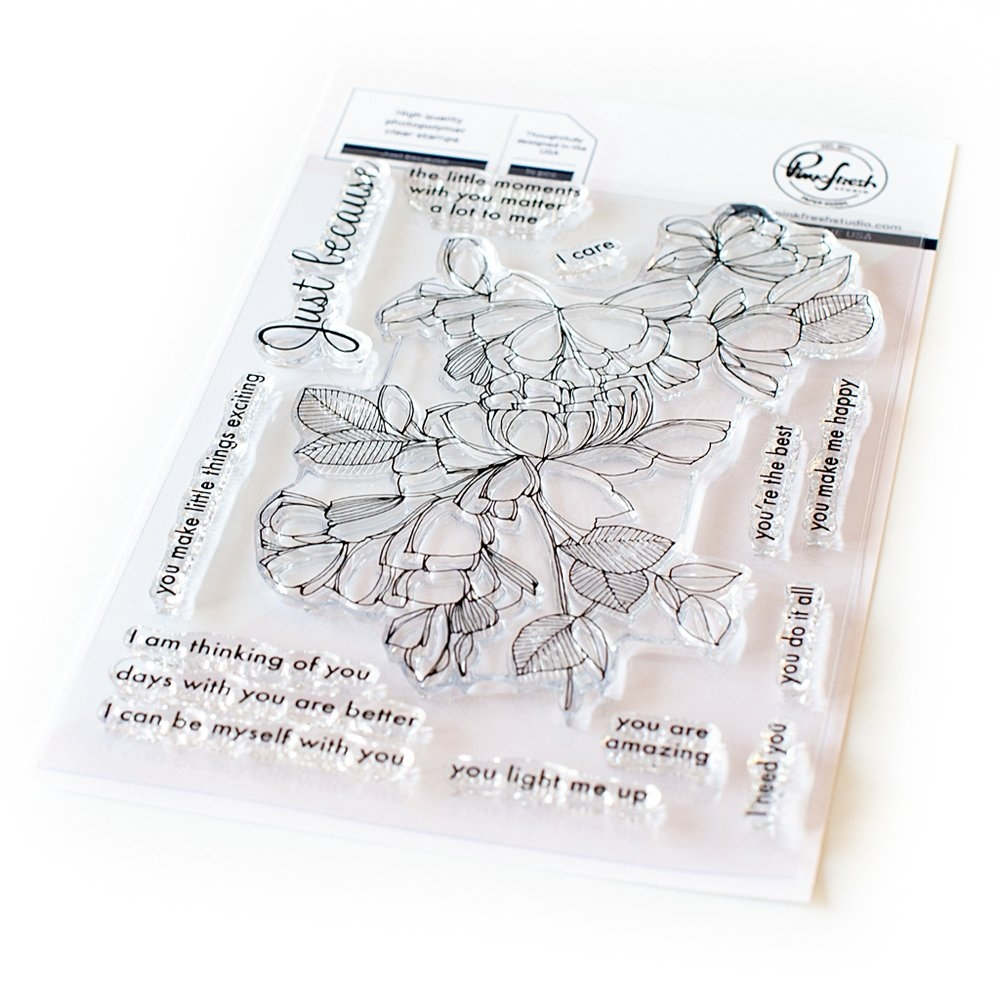 PinkFresh Studio JUST BECAUSE Clear Stamp Set pfcs0120 zoom image