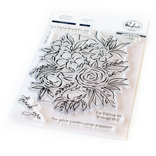 PinkFresh Studio FULL BLOOM Clear Stamp Set pfcs0220 Preview Image