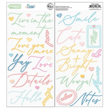 RESERVE Pinkfresh Studio MY FAVORITE STORY Puffy Phrase Stickers pfrc100820