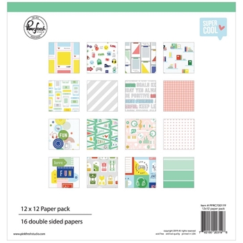 RESERVE Pinkfresh Studio SUPER COOL 12 x 12 Paper Pack pfrc700119