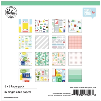 RESERVE Pinkfresh Studio SUPER COOL 6 x 6 Paper Pack pfrc700219