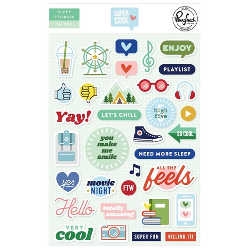 PinkFresh Studio SUPER COOL Puffy Stickers pfrc700319 Preview Image