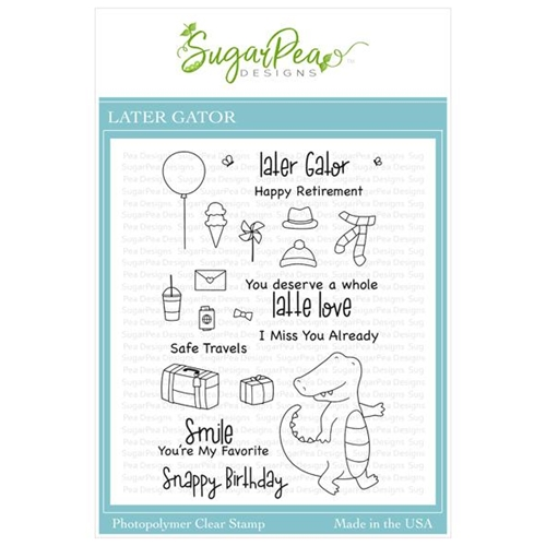 SugarPea Designs LATER GATOR Clear Stamp Set spd00440 Preview Image