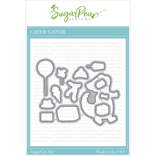 SugarPea Designs LATER GATOR SugarCuts Dies spd00421 Preview Image