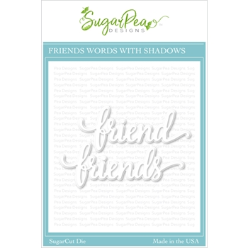SugarPea Designs FRIENDS WORD SugarCuts Dies spd00434