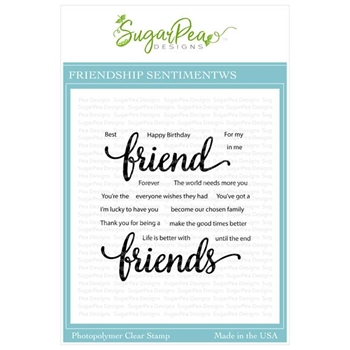 SugarPea Designs FRIENDSHIP SENTIMENTS Clear Stamp Set spd00433