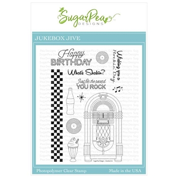 SugarPea Designs JUKEBOX JIVE Clear Stamp Set spd00430