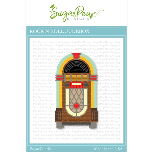 SugarPea Designs ROCK N ROLL JUKEBOX SugarCuts Dies spd00432 Preview Image
