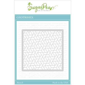 SugarPea Designs GEO TRI HEX Stencil spd00429