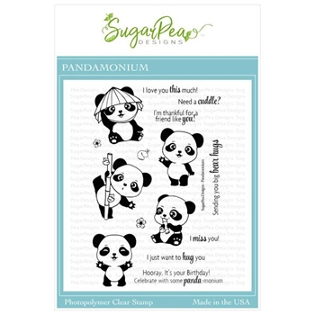 SugarPea Designs PANDAMONIUM Clear Stamp Set spd00426