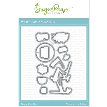 SugarPea Designs WHEELIE AMAZING SugarCuts Dies spd00425