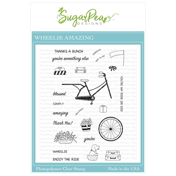 SugarPea Designs WHEELIE AMAZING Clear Stamp Set spd00424