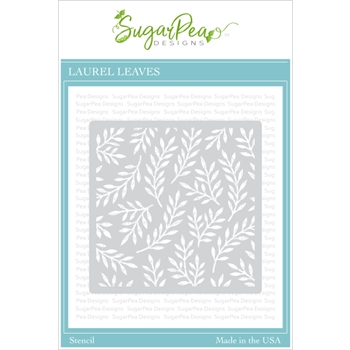 SugarPea Designs LAUREL LEAVES Stencil spd00422