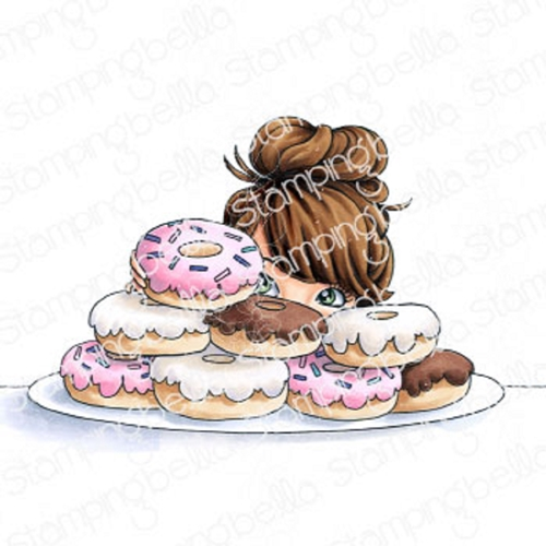 Stamping Bella Cling Stamp MOCHI DONUT GIRL eb899 Preview Image