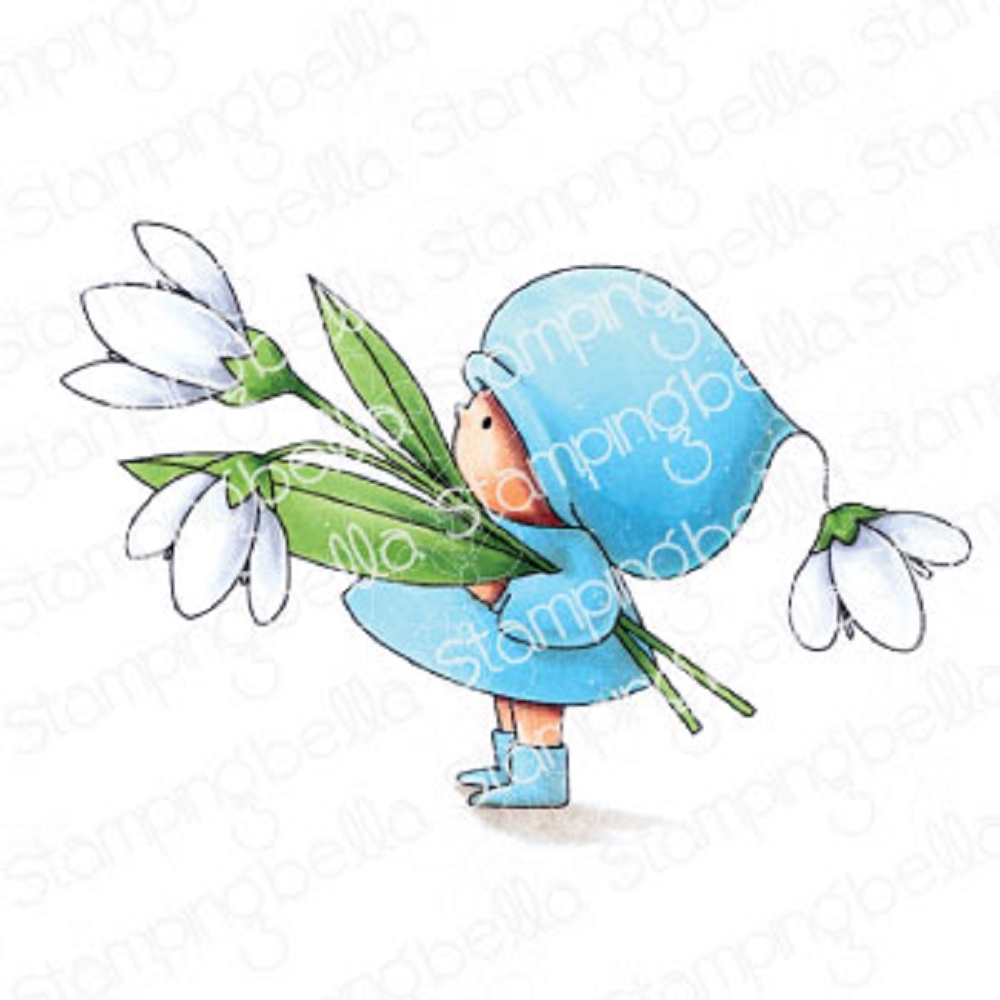 Stamping Bella Cling Stamp BUNDLE GIRL WITH A SNOWDROP eb909 zoom image