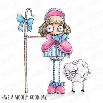 Stamping Bella Cling Stamps ODDBALL LITTLE BO PEEP eb917