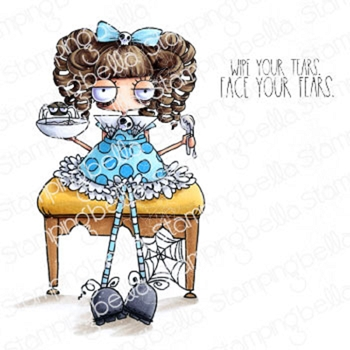 Stamping Bella Cling Stamps ODDBALL LITTLE MISS MUFFETT eb918