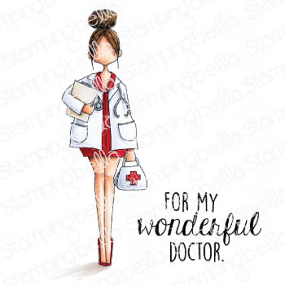 Stamping Bella Cling Stamps CURVY GIRL DOCTOR eb926 zoom image