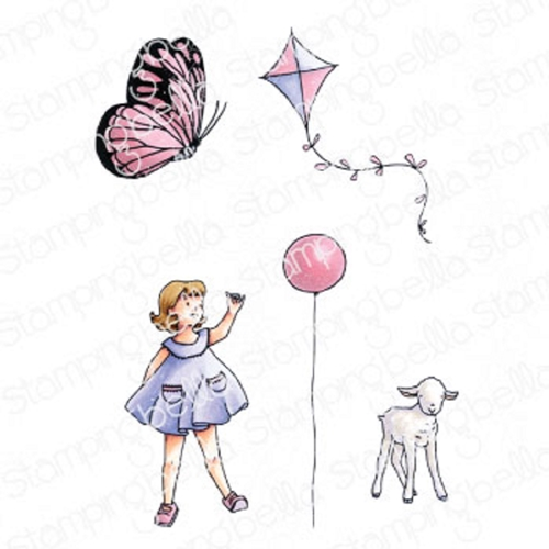Stamping Bella Cling Stamps EDGAR AND MOLLY'S VINTAGE BALLOON SET eb927 Preview Image