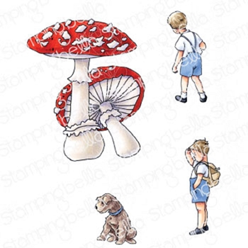 Stamping Bella Cling Stamps EDGAR AND MOLLY'S VINTAGE MUSHROOM SET eb933