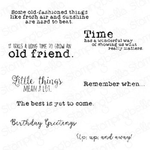 Stamping Bella Cling Stamps EDGAR AND MOLLY'S VINTAGE SENTIMENTS eb937 Preview Image