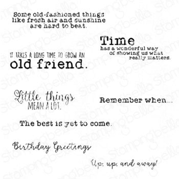 Stamping Bella Cling Stamps EDGAR AND MOLLY'S VINTAGE SENTIMENTS eb937