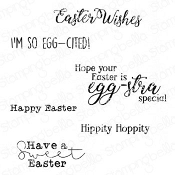 Stamping Bella Cling Stamps EASTER SENTIMENT SET eb936