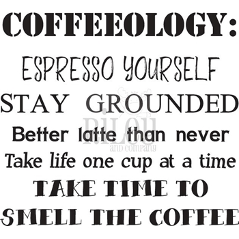 Riley And Company Funny Bones COFFEEOLOGY Cling Rubber Stamp RWD-781