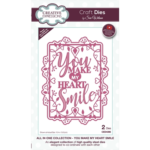 Creative Expressions YOU MAKE MY HEART SMILE Sue Wilson Die ced4396 Preview Image