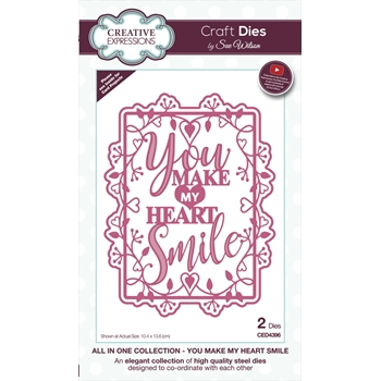 Creative Expressions YOU MAKE MY HEART SMILE Sue Wilson Die ced4396