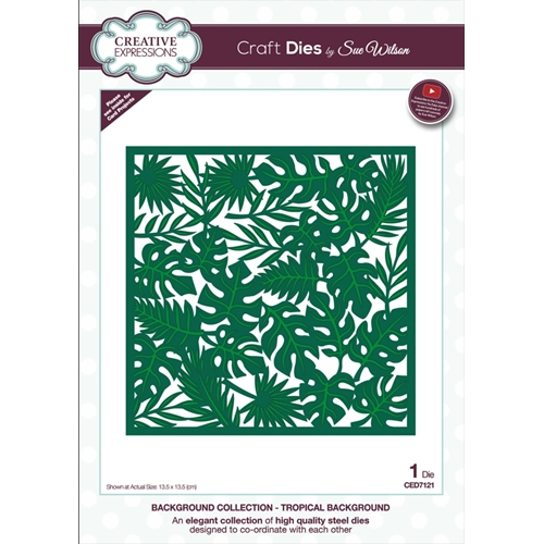 Creative Expressions TROPICAL BACKGROUND Sue Wilson Die ced7121 Preview Image