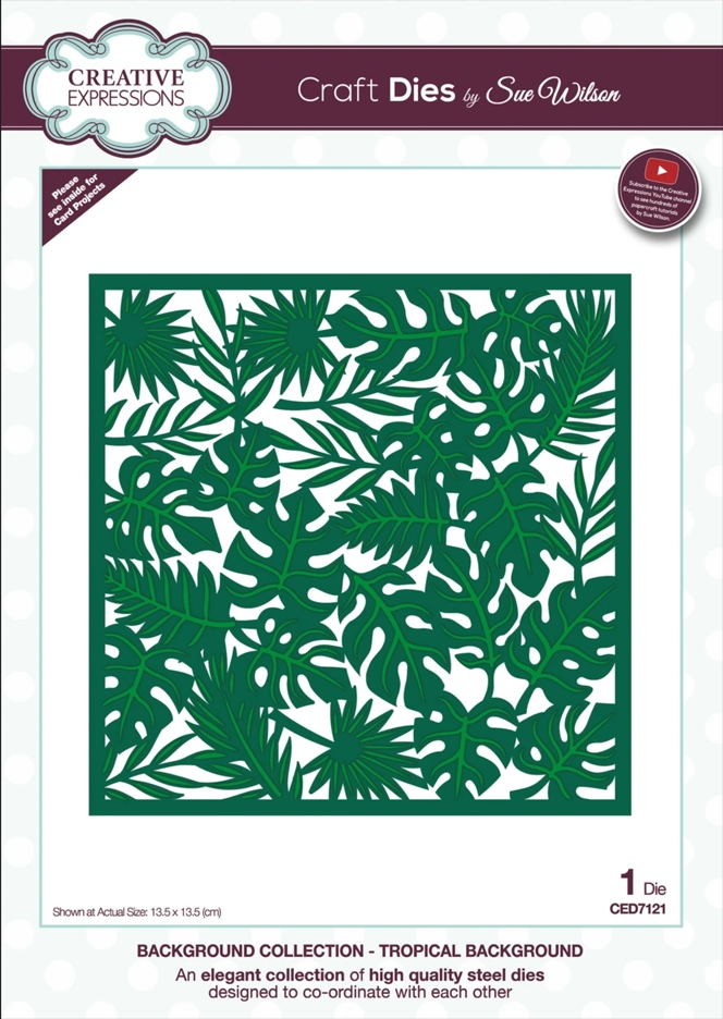 Creative Expressions TROPICAL BACKGROUND Sue Wilson Die ced7121 zoom image