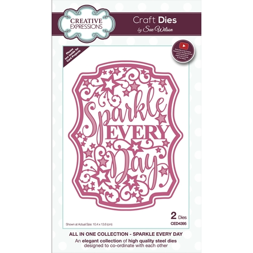 Creative Expressions SPARKLE EVERY DAY Sue Wilson Die ced4395 Preview Image