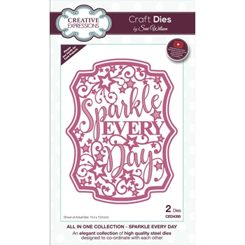 Creative Expressions SPARKLE EVERY DAY Sue Wilson Die ced4395