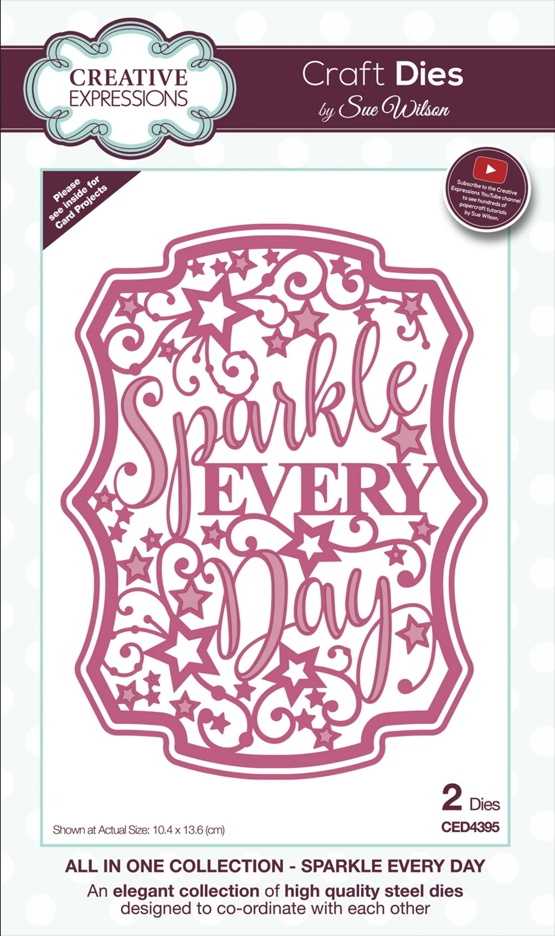 Creative Expressions SPARKLE EVERY DAY Sue Wilson Die ced4395 zoom image