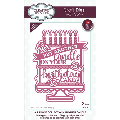 Creative Expressions ANOTHER CANDLE Sue Wilson Die ced4393 Preview Image
