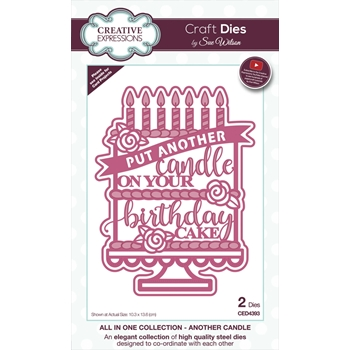 Creative Expressions ANOTHER CANDLE Sue Wilson Die ced4393