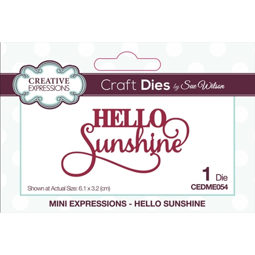Creative Expressions HELLO SUNSHINE Sue Wilson Mini Expressions Die cedme054 Preview Image