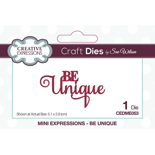 Creative Expressions BE UNIQUE Sue Wilson Mini Expressions Die cedme053 Preview Image
