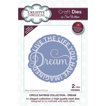 Creative Expressions DREAM Sue Wilson Circle Sayings Dies ced26004