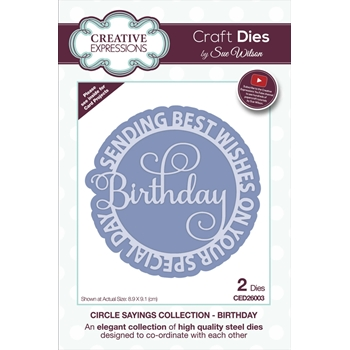 Creative Expressions BIRTHDAY Sue Wilson Circle Sayings Dies ced26003