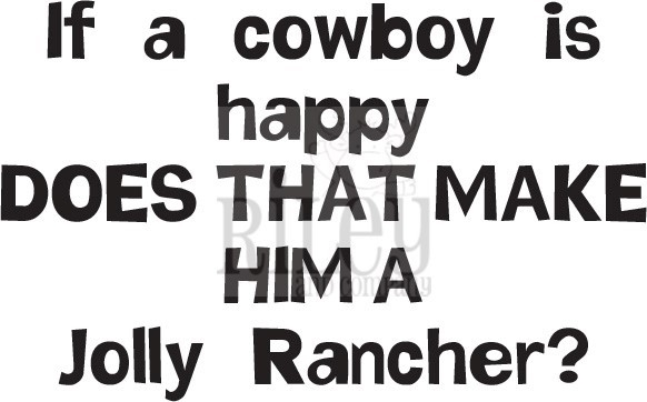 Riley And Company Funny Bones HAPPY COWBOY Cling Rubber Stamp RWD-771 zoom image