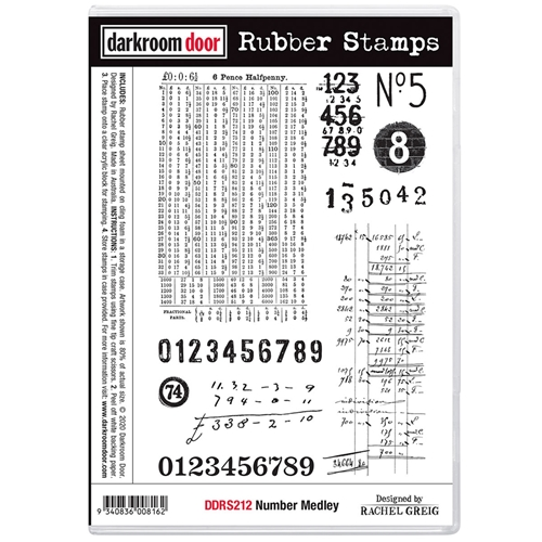Darkroom Door Cling Stamps NUMBER MEDLEY ddrs212 Preview Image