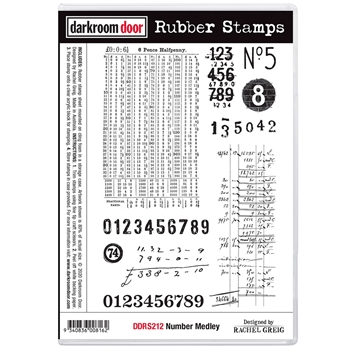 Darkroom Door Cling Stamps NUMBER MEDLEY ddrs212