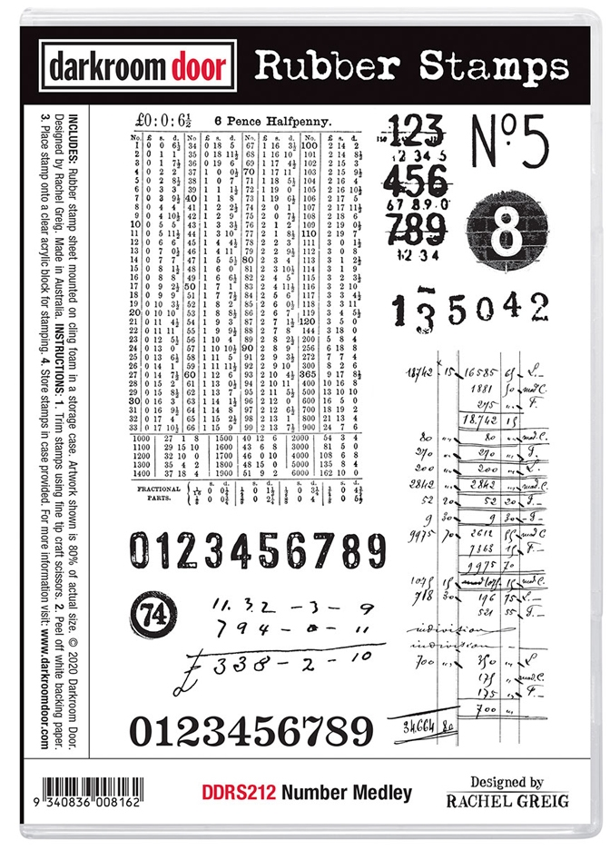 Darkroom Door Cling Stamps NUMBER MEDLEY ddrs212 zoom image