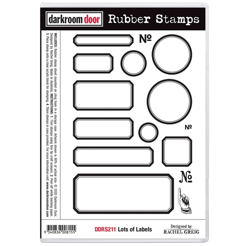 Darkroom Door Cling Stamps LOTS OF LABELS ddrs211 Preview Image