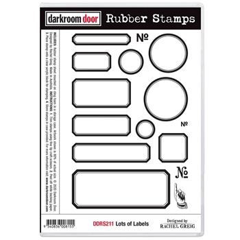 Darkroom Door Cling Stamps LOTS OF LABELS ddrs211