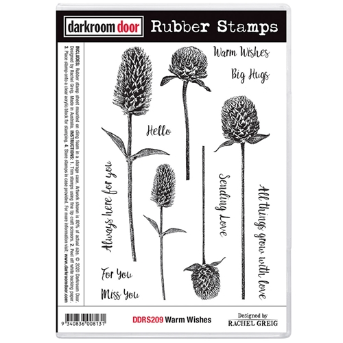 Darkroom Door Cling Stamps WARM WISHES ddrs209 Preview Image