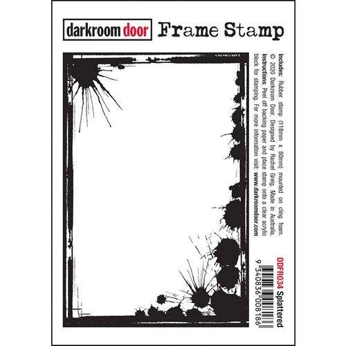 Darkroom Door Cling Stamp SPLATTERED Frame ddfr034 Preview Image