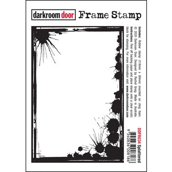 Darkroom Door Cling Stamp SPLATTERED Frame ddfr034